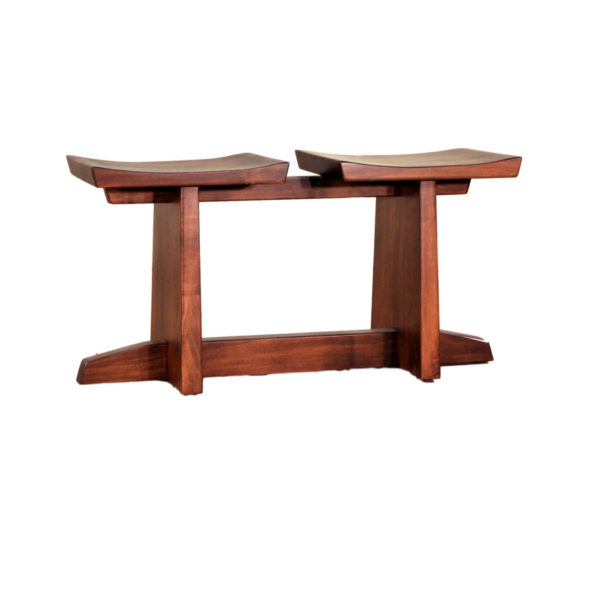 ruff sawn solid wood stockholm saddle seats for table or counter