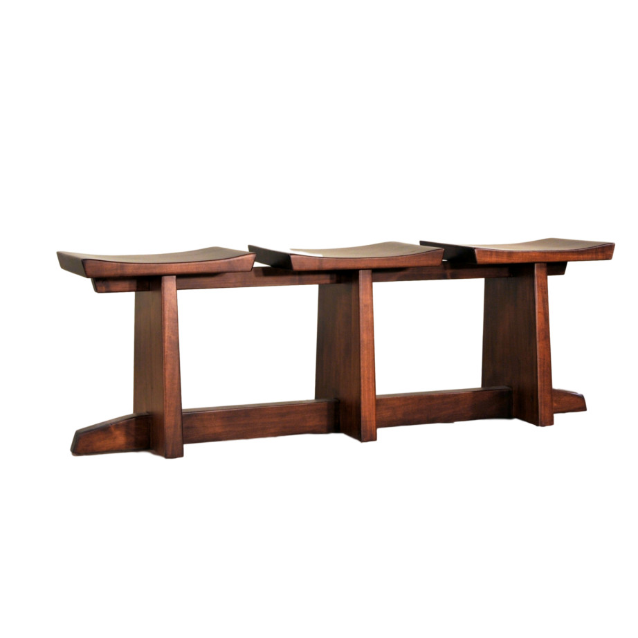 solid wood custom built stockholm saddle seat for dining table or hall