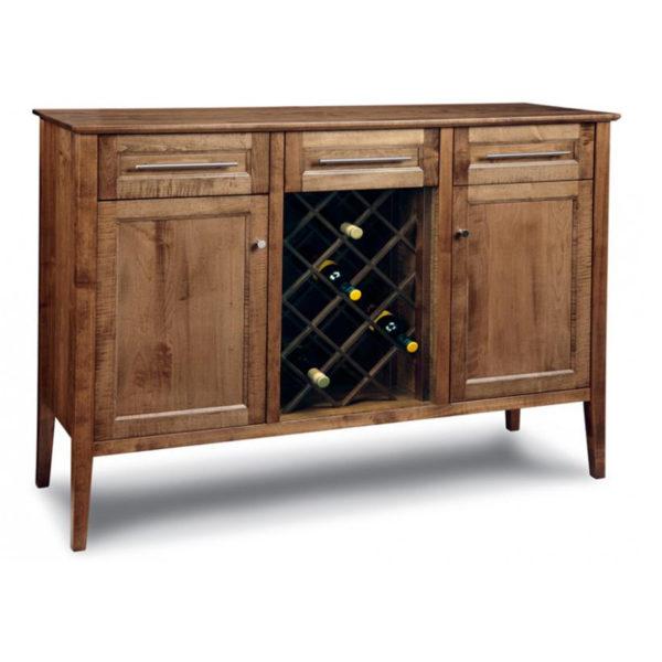 modern solid wood stockholm sideboard with wine bottle rack