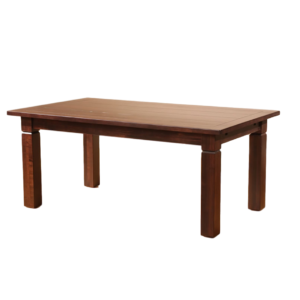 Tamarisk dining table, Dining Room, Leg Tables, block leg, custom table, fabric, kitchen, made in canada, maple, plank top, plug leaf, rustic, sahara, solid wood, Available in Many Sizes, sahara, dining room ideas, Simple, Modern, Tamarisk Dining Light, Tamarisk Table Dark,
