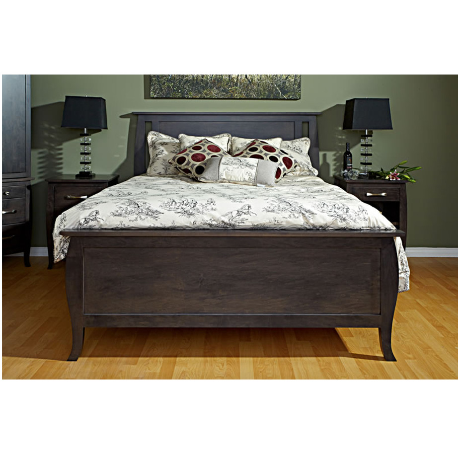solid wood tiffany bed from footboard