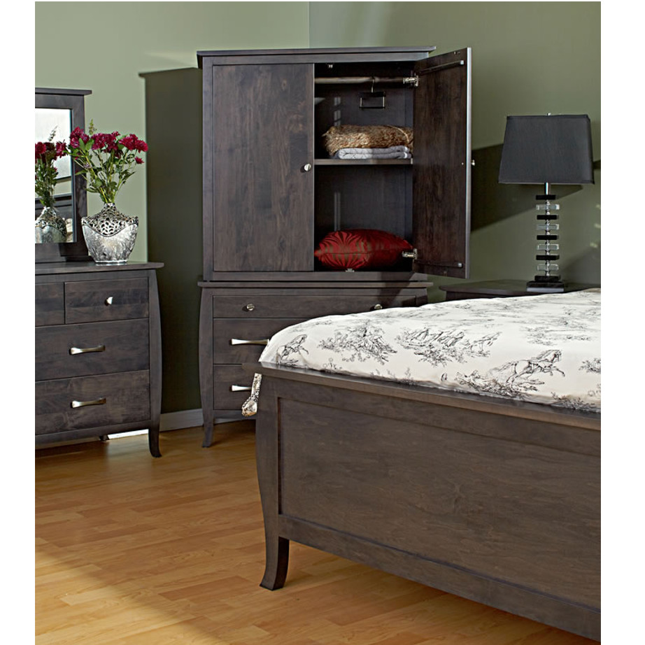 bedroom, bedroom furniture, wood, solid wood, maple, oak, solid maple, solid oak, made in Canada, custom, custom furniture, armoire, storage ideas, bedroom storage