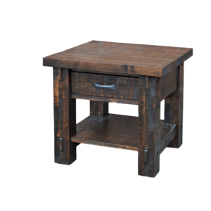 Timber End Table, Living Room, Occasional, End Table, contemporary, custom table, distressed, drawers, industrial, made in canada, maple, modern, ruff sawn, rustic, solid wood, amish style furniture, contemporary, ideas, unique, living room ideas,