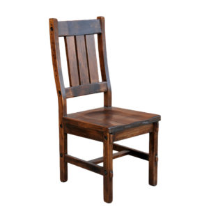 timber dining chair, solid wood dining chair, rustic dining chair, canadian made dining chair, timber side chair