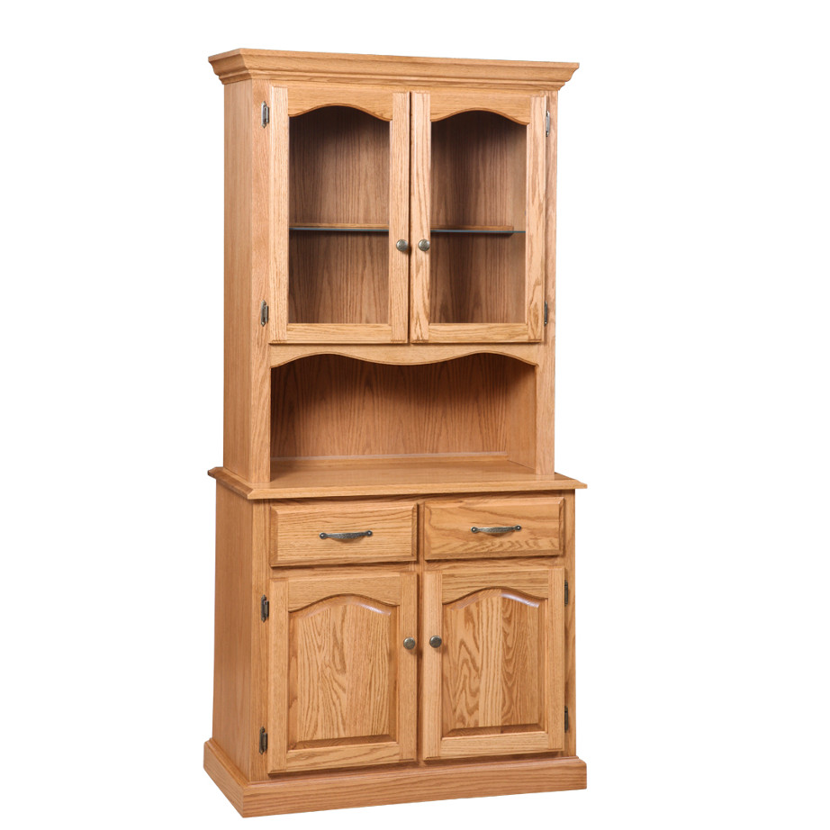 corner door p dutchcrafters hutch one from pid furniture solid wood amish