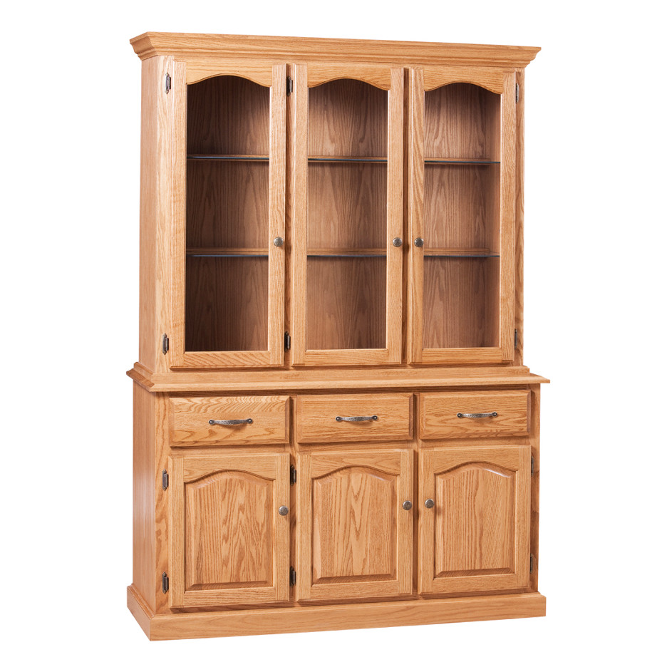 Home Envy Furnishings Solid: Traditional 3 Door Buffet And Hutch