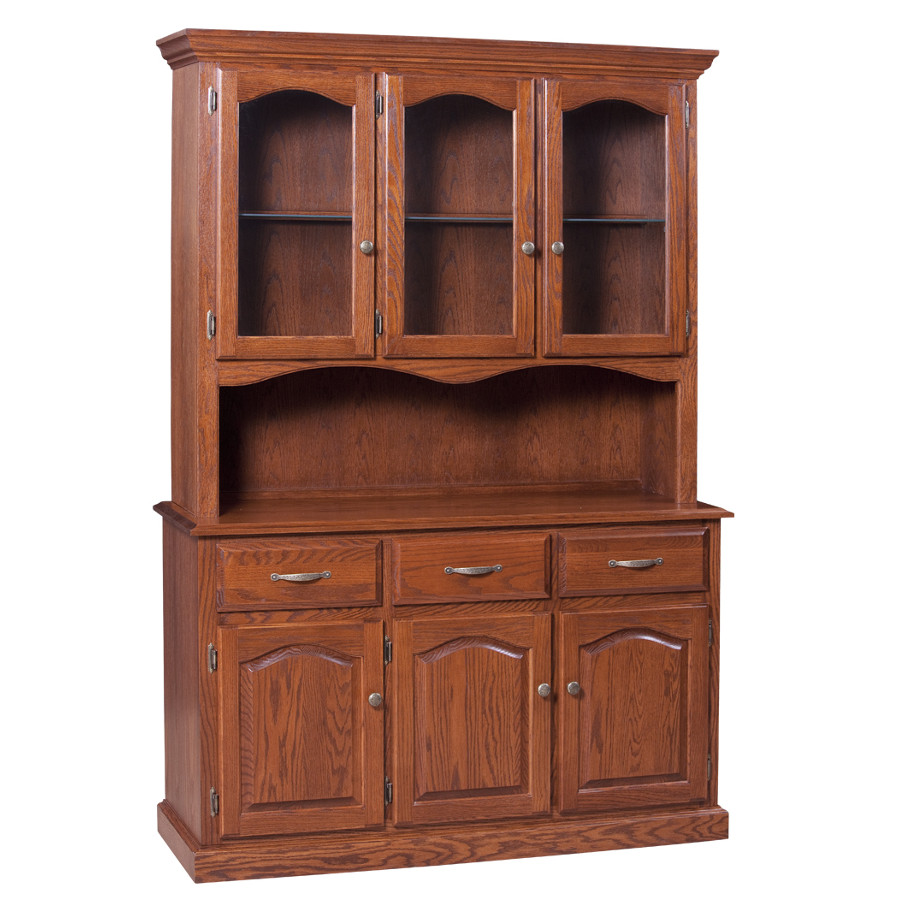 Traditional 3 Door Buffet And Hutch Dining Room Furniture Occasional