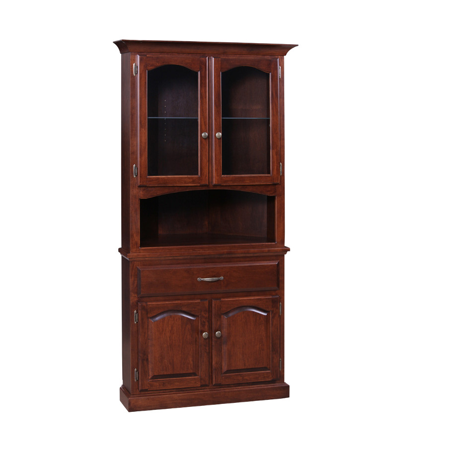 Wooden Corner Cabinet ~ Traditional corner cabinet home envy furnishings solid