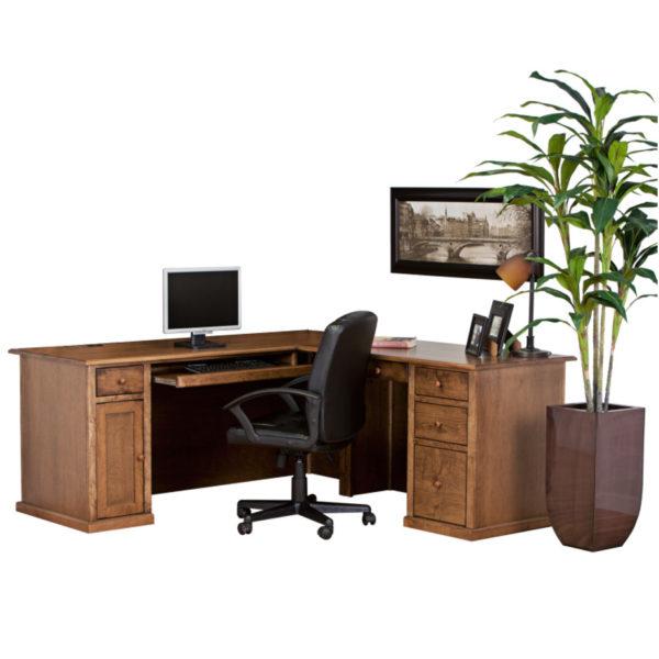 home office traditional solid wood workstation desk