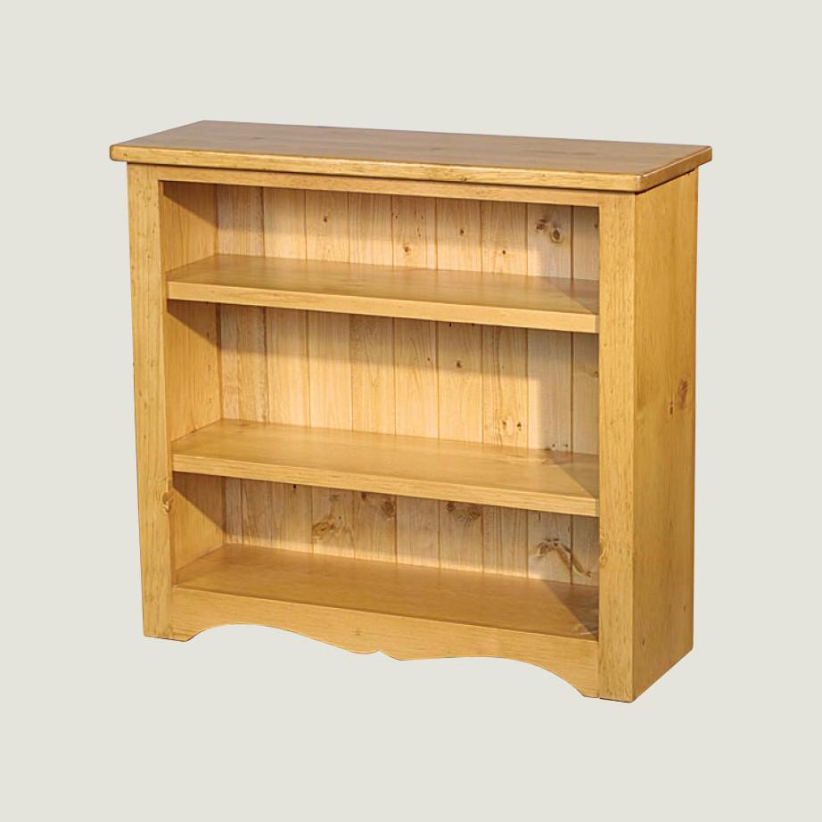 solid rustic pine true north bookcase in custom size