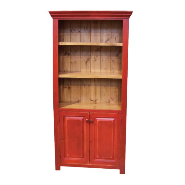 solid rustic pine custom built true north bookcase with doors