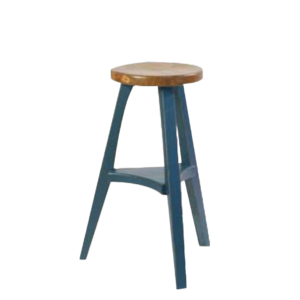 canadian made round true north stool for counter top or island in kitchen