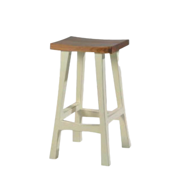 solid wood canadian made true north saddle stool for counter or bar