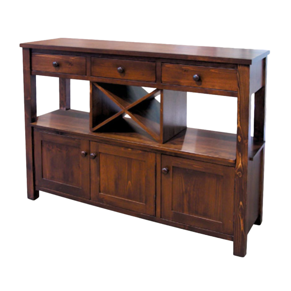 hand crafted in canada true north wine sideboard with wine rack