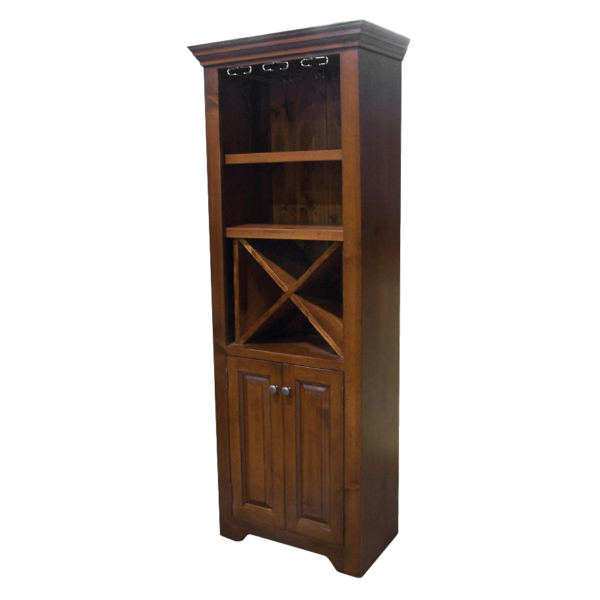solid rustic pine canadian made true north wine station with liquor cabinet design