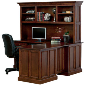 Tuscany Workstation, workstation, Work desk , Tall work desk, work desk with storage, wooden furniture, made in canada, workstation