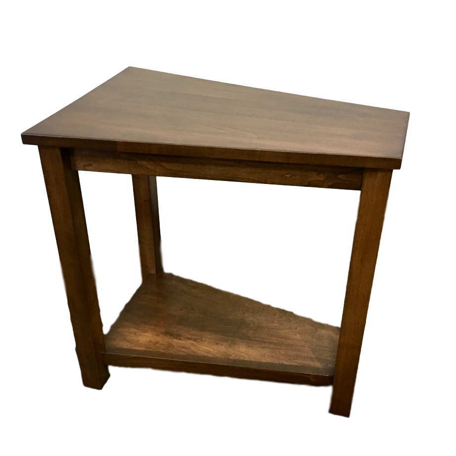 wedge table  home envy furnishings solid wood furniture store - living room occasional end table accents accent furniture chairsidetable