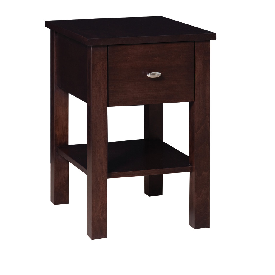 narrow size yaletown end table in solid wood