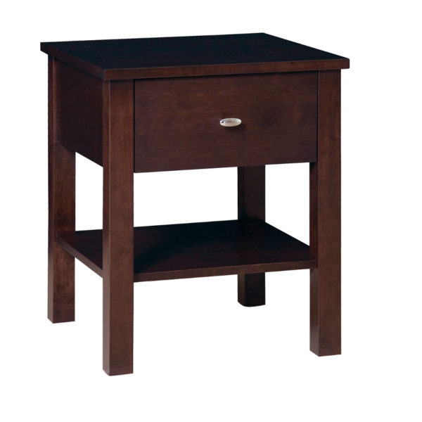 hand crafted in canada yaletown end table with drawer