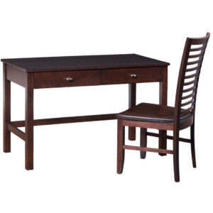 modern solid wood yaletown writing desk with drawers
