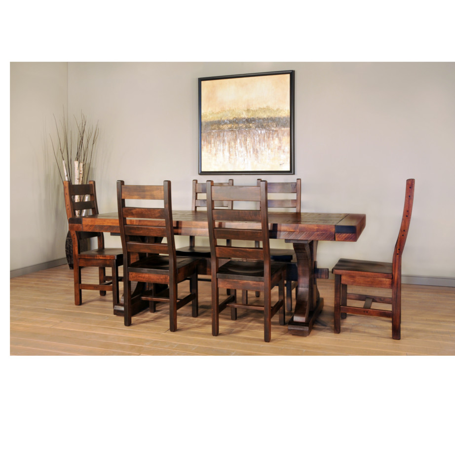 solid rustic maple carlisle dining room collection