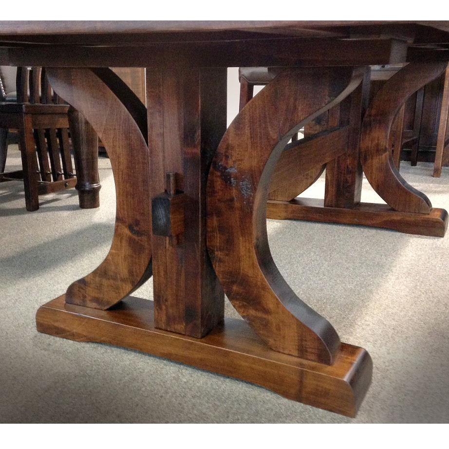 base detail of craftsmanship on carlisle dining table
