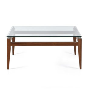 mid century modern solid wood frame alex coffee table