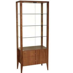 contemporary canadian made alex display cabinet with glass doors