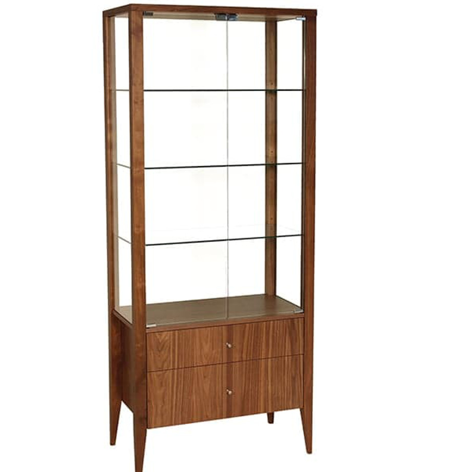 Alex display cabinet home envy furnishings solid wood for Dining room display cabinets