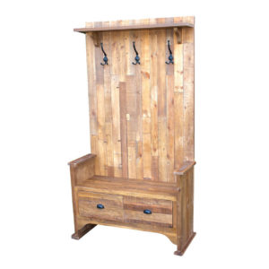 bavaria hall bench, entry way, storage, coat hook, solid wood, rustic, reclaimed, urban, modern, industrial, solid wood, natural wood,