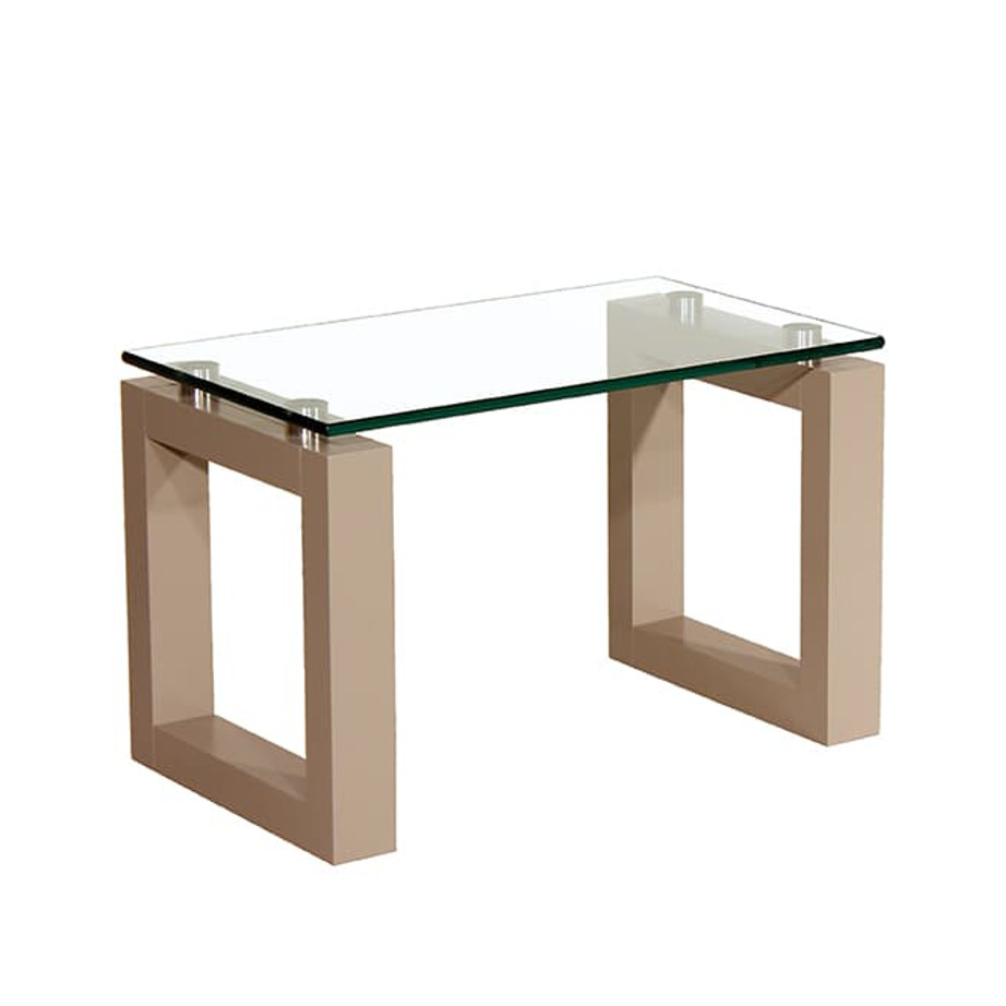 Occasional, End Table, Accents, Accent Furniture, birch, contemporary, glass, made in canada, mid century, modern, solid wood, walnut, living room ideas, unique, modern, verbois, custom stain, simple, Living Room, glass shelf, square, Bill End Table