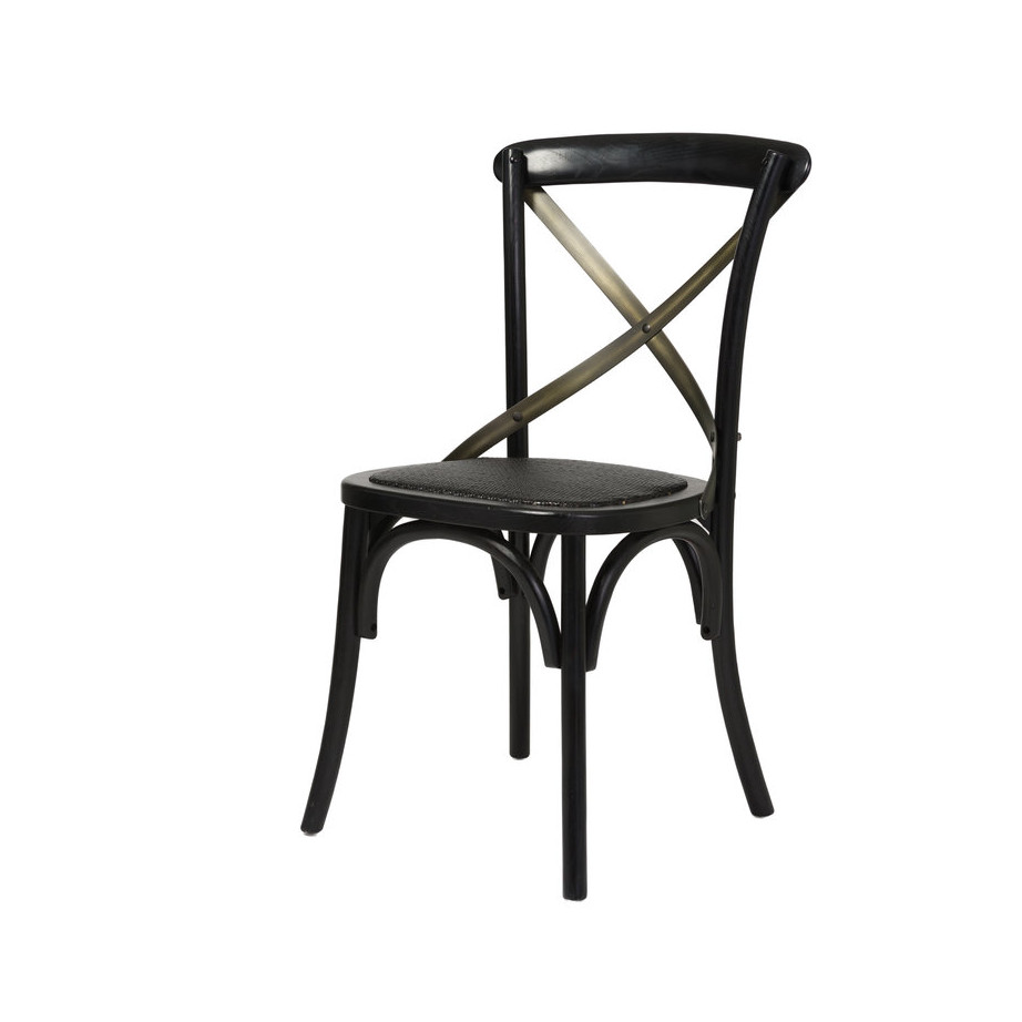 Cross Back Dining Chair Home Envy Furnishings Solid