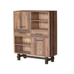 Cruz reclaimed Cabinet, solid wood, rustic, reclaimed, urban, modern, industrial, storage, display