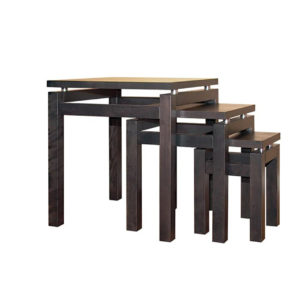 canadian made wood cubik nesting table set