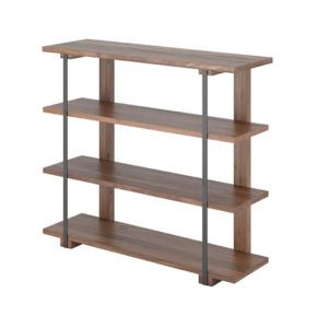Diaz Shelf, Home Office, Bookcases, Accents, Accent Furniture, birch, contemporary, display, made in canada, mid-century, modern, shelf, shelving, solid wood, walnut, VerBois, living room furniture ideas, custom made, solid wood furniture