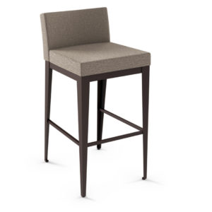 modern low back upholstered ethan fabric stool
