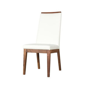 solid wood frame jane dining chair with custom leather options