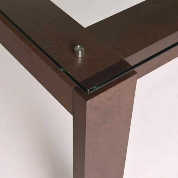 canadian made mpd solid wood table with glass top