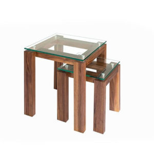 modern glass top MPD Netsing Tables Set