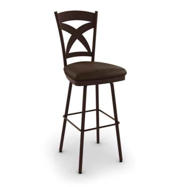 custom stool, metal, iron, steel, fabric, leather, distressed wood, solid birch, traditional, modern, urban, rustic, bar, pub, counter, island, kitchen, amiss, made in canada, marcus swivel stool