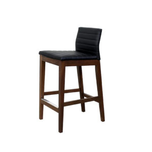 low back style for counter max stool with wood frame