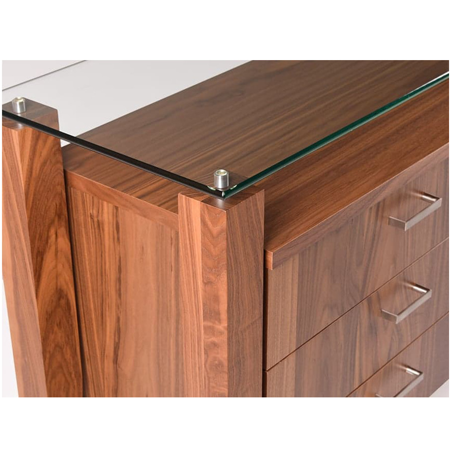 Dining Room, Cabinets, Storage Cabinets, birch, contemporary, glass, made in canada, mid century, modern, solid wood, verbois, walnut, dining room ideas, glass top, unique, modern, storage ideas, Mika Buffet, Mika Buffet C, Mika Buffet B, Mika Buffet A
