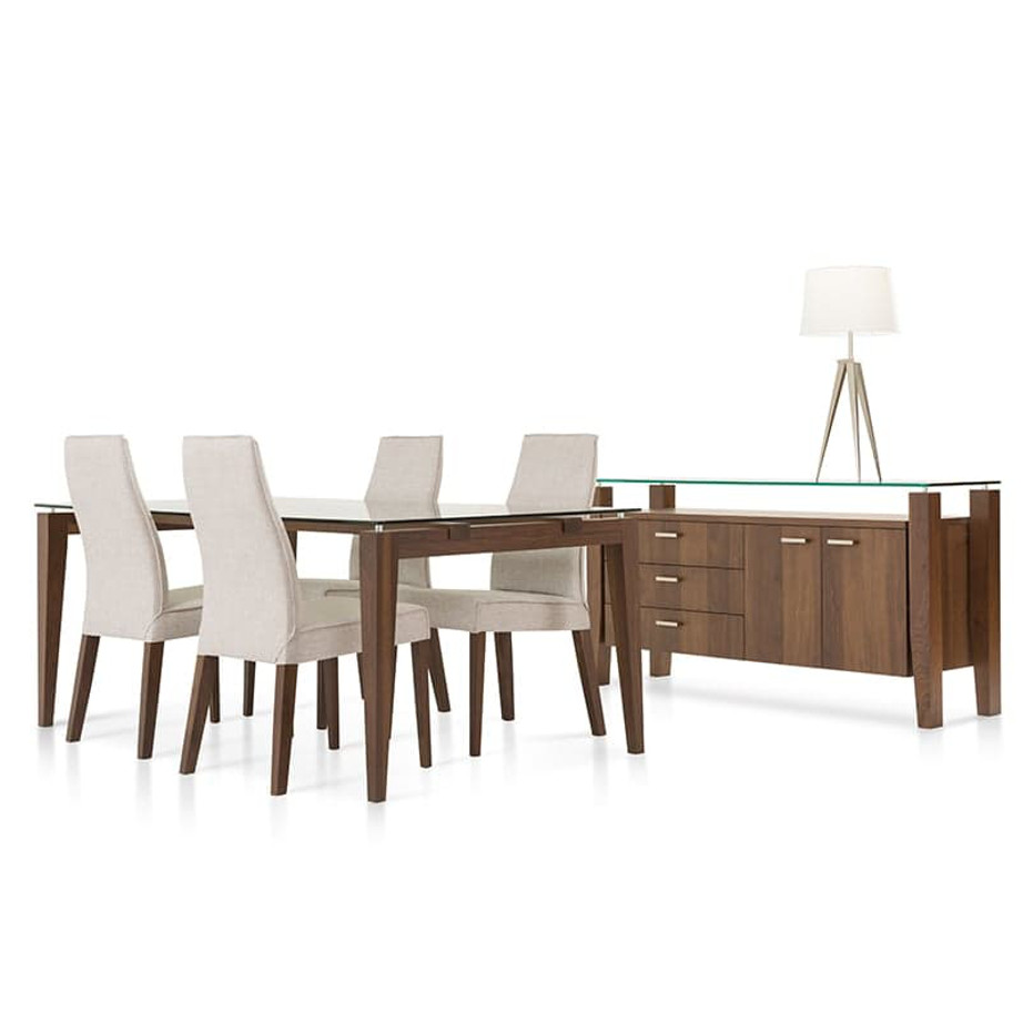 made in canada mika sideboard buffet with table and chairs set