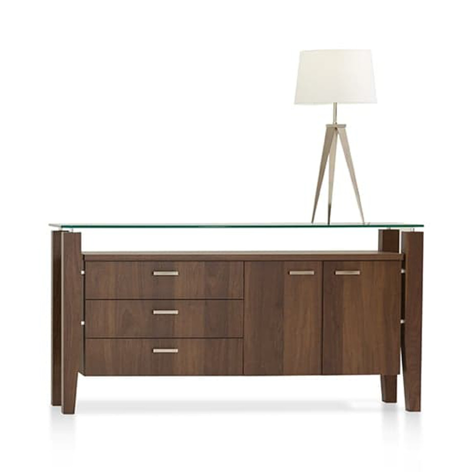 modern canadian made mika buffet with glass top