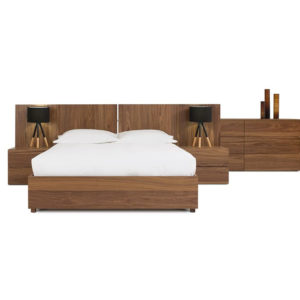 Ora Bed, VerBois, custom made, modern, Bed Room, contemporary, unique, Step Bed, Bedroom Furniture, Home Envy, Bedroom, Beds bedroom furniture, birch, contemporary, made in Canada, master bedroom, modern, platform, solid wood, walnut