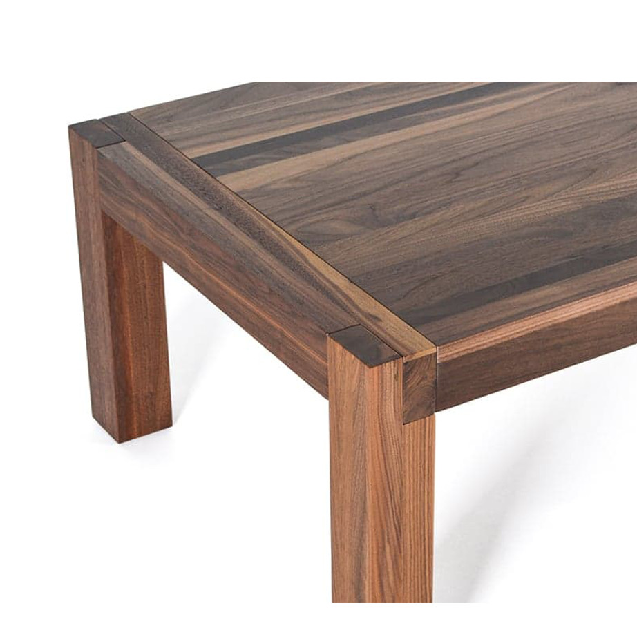Occasional, End Table, Accents, Accent Furniture, birch, contemporary, made in canada, mid century, modern, solid wood, walnut, living room ideas, unique, modern, verbois, custom stain, simple, Living Room, coffee table, Sim Coffee Table, Sim Coffee Table Detail