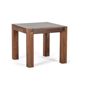 solid wood, canadian made sim end table with block legs