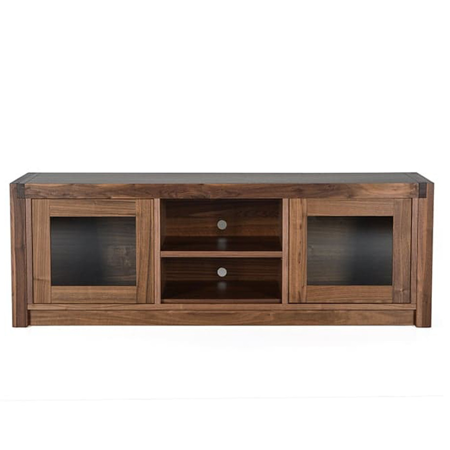 Sim TV Console, Entertainment, TV Consoles, birch, console, contemporary, HDTV, made in canada, media stand, mid-century, modern, solid wood, walnut, living room furniture ideas, VerBois, solid wood furniture, custom made,
