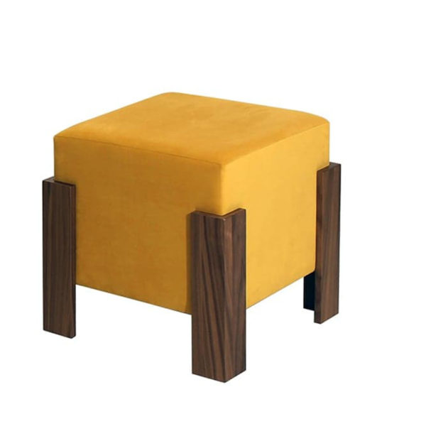 Sun Ottoman, Sun Single Ottoman, Accents, Entry Benches, Accent Furniture, birch, contemporary, fabric, made in canada, modern, seating, solid wood, walnut, VerBois, Fabric, living room furniture ideas, custom made, solid wood furniture,
