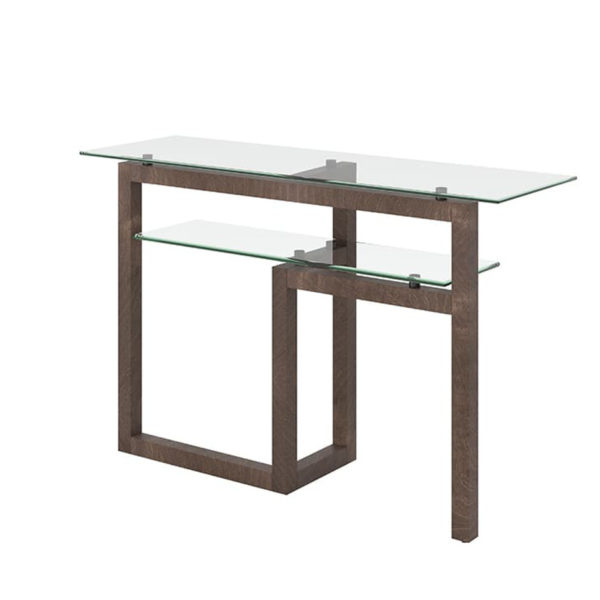modern canadian made tekno sofa table with glass top